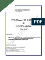 Programa AlgLin 2018