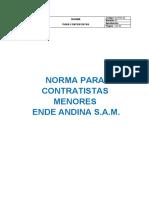 Norma HSE Para Contratistas Menores
