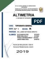 Informe 6 ALTIMETRIA