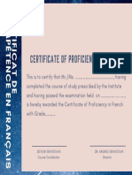 Pink Blueberry Completion Certificate
