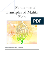 Fundamental Principles of Maliki Fiqh