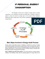 Audit of Personal Energy Consumption