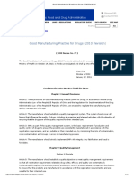 Good Manufacturing Practice for Drugs (2010 Revision)