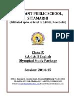 Doc 994 B.P.S. IX S.a. I II English Olympiad Study Package 2014 15