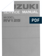 Suzuki RV125 Service Manual