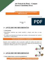 Slides - Regressão Por Polinômios Ortogonais