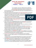 Epistemología Para Dummies - Tema Epistemología 2018