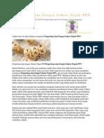 Pengertian Dan Fungsi Faktur Pajak PPN