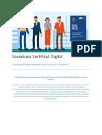 Sosialisasi Sertifikat Digital