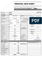 CSC Personal Data Sheet PDS