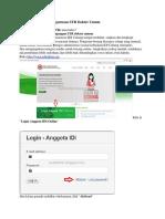 Borang IDI Online Pengurusan STR Dokter Umum
