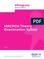 Mrcpch Theory Examination Syllabi v2 0