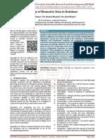 Storage of Biometric Data in Database