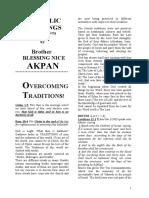 Apostolic Foundation Pt II. Overcoming Traditions