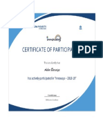Participation certificate in innovays