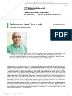 Performance of Hedge Funds in India - Indian Finance Association