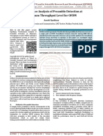 Performance Analysis of Preamble Detection at Maximum Throughput Level for OFDM