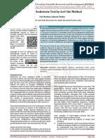 Bacterial Endotoxin Test by Gel Clot Method