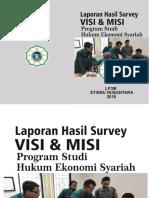 Buku Laporan Survey Visi Misi HES