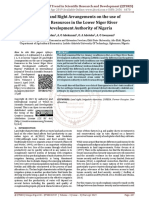 Impact of Land Right Arrangements on the use of Irrigation Resources in the Lower Niger River Basin Development Authority of Nigeria