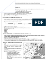 Preguntas/Actividades 1 Eso de Geografía e Historia