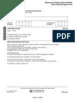 O level Computer Science Resoruce Paper 1