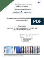 IBA - Group 2. Revised