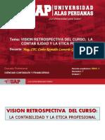 Semana 1 - Vision Retrospectiva Del Curso, La Contab Ilidad y La Etica Profesional
