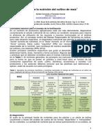 Bases Para La Nutricion de Maiz - CREA 2014