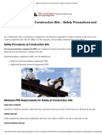 Safety Procedures at Construction Site - Safety Precautions and PPEs