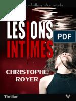 EXTRAIT du roman « Lésions intimes » de Christophe Royer