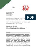 Burnout y Su Impacto en Las Condiciones de Trabajo y de Seguridad Social