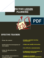 Effective Lesson Planning