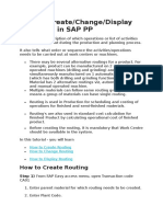 4. SAP PP - How to Create & Change Routing
