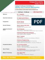 Inagural Invitation FatigueDurabilityIndia2016