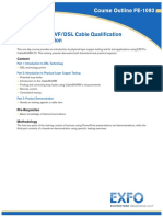 Introduction to VF-DSL Cable Qualification and Fault Location