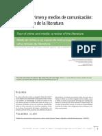 Molina Jácome, Isaías_Miedo al crimen y medios de comunicación_Una revisión de la literatura