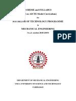 Btech Syllabus Mechanical 2018 Draft1