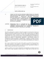 Orden Administrativa Núm. 2019-04