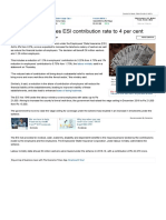 ESI Contribution Rate