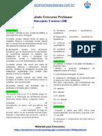 Simulado Concurso Professor - Simulado 2 sobre LDB
