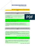 2 Sugerencias para que la democracia en Perú funcione mejor (PUCP)
