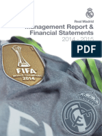 Real Madrid. Management Report & Financial Statements 2014-2015