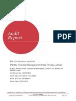 Pentair Noida ARG-407503 WI-820614 Audit Report