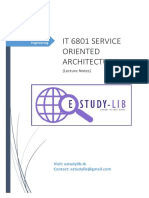 It 6801 Service Oriented Architecture (Lecture Notes)