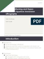 Lithography Presentation