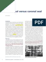Apical Seal Versus Coronal Seal
