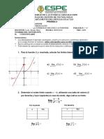 Calculo Diferencial - Prueba 2