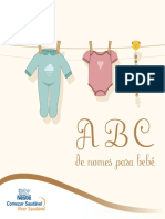 A b c dos nomes de bebês