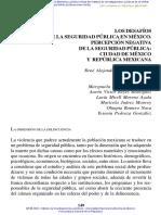 Los Desafíos de La Seguridad Pública en México. Percepción